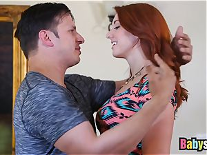 succulent sandy-haired sitter likes riding humungous hard manmeat