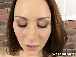 peeing brown-haired fuckslut is so damn superb