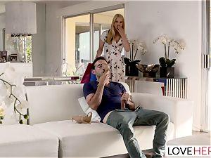 LoveHerFeet Caught wanking Off By ultra-kinky Stepmom