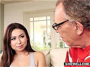 SheWillCheat- hotwife hubby watches steamy wifey pound big black cock