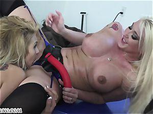 Mature wifey Leya Falcon punishes her husband's mistress