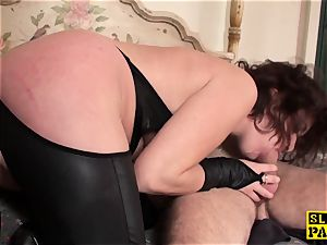 redhead brit sub bum-fucked and strapped
