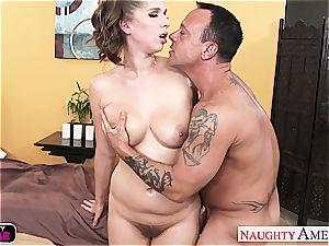 lubed hotty Alex chance banging her massagist