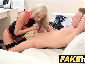 female Agent jism greedy horny agent gets poked