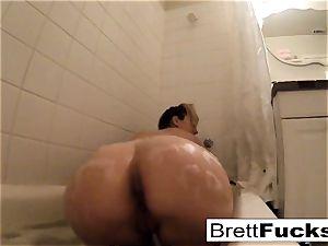 Brett Rossi takes a torrid bathtub that makes her real crazy