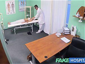FakeHospital warm brunette Patient comebacks craving spear