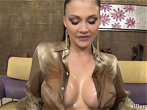 woman lubricated Up For A double penetration