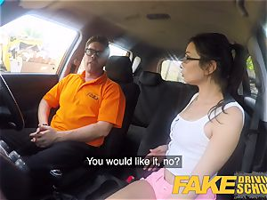fake Driving college steaming Italian nympho minx