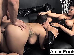 3-way xxx spirited sex with Alison
