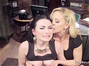 naughty lesbos love hard-core lesbian bang-out
